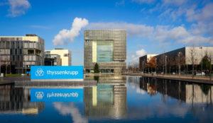 ThyssenKrupp headquarters, Essen, Ruhr area, North Rhine-Westphalia, Germany