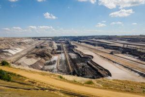 Juechen, North Rhine-Westphalia, Germany, RWE opencast lignite mine Garzweiler.