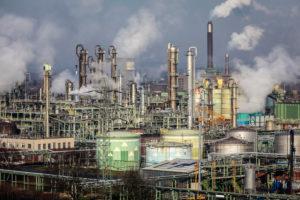OXEA Ruhrchemie plant in Oberhausen, Ruhr area, North Rhine-Westphalia, Germany, Europe.