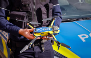 Neuss, North Rhine-Westphalia, Germany - Drones at the NRW police, 106 drones for one million euros are to be used by the North Rhine-Westphalian police in the fight against crime from 2021.