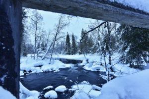 Winter landscape in Finland