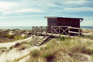 Hütte am Strand
