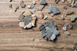 selbstgebastelte Steinuntersetzer