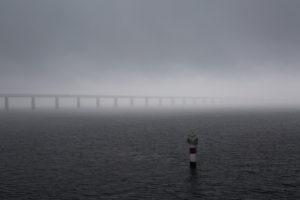 Öresundbrücke im Nebel