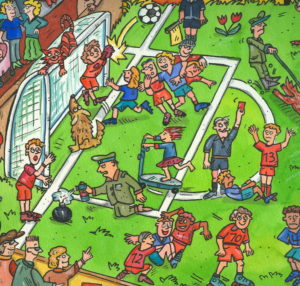 Illustration, soccer