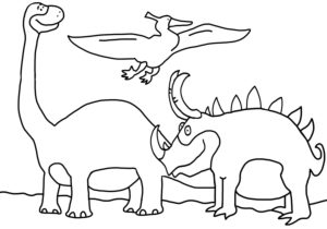 colouring picture, dinosaurs
