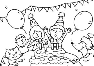 colouring picture, children's birthday
