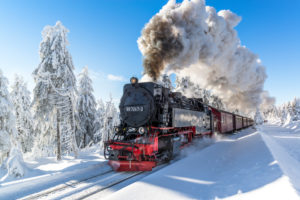 The Brockenbahn in the Harz National Park, Saxony-Anhalt, Germany