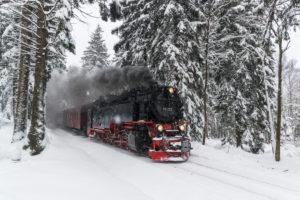 Die Brockenbahn im Nationalpark Harz, Sachsen-Anhalt, Deutschland