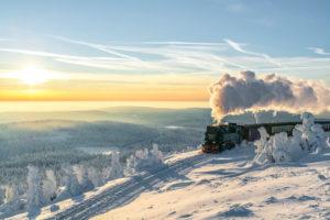 The Brockenbahn in the Harz National Park, Saxony-Anhalt, Germany