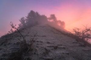 Sunrise on the Jenzig, Nebel, Jena, Thuringia, Germany