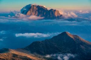 View from Rifugio Lagazuoi to the Civetta, Dolomites, Italy