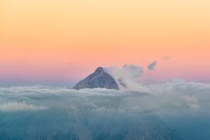 View from Rifugio Lagazuoi (2752 m) to Monte Antelao, Dolomites, Cortina d'Ampezzo, Italy