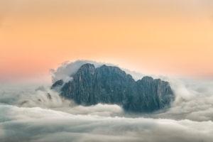 View from Rifugio Lagazuoi (2752 m) to the Civetta, Dolomites, Cortina d'Ampezzo, Italy