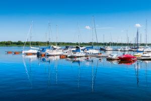 Port in Rostock, Mecklenburg-West Pomerania.