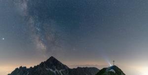 Milchstraße über der Reither Spitze, Karwendelgebirge, Österreich