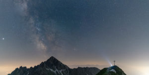 Milky Way over the Reither Spitze, Karwendel Mountains, Austria