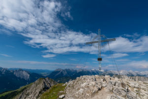 Eastern summit of the Hohen Munde (2662 m) in the Karwendel Mountains in Austria.