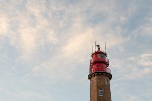 Leuchtturm Flügge auf Fehmarn an der Ostsee.