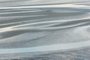 Abstract view at low tide in Fresnaye Bay at Cap Frehel