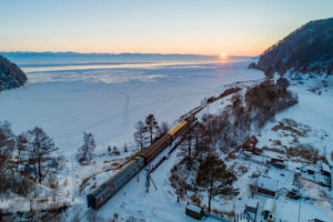 Trans-Siberian Railway at Lake Baikal, Russia