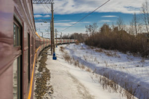 Trans-Siberian Railway in Winter, Russia