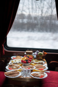 Breakfast, Trans-Siberian Railway in Winter, Russia