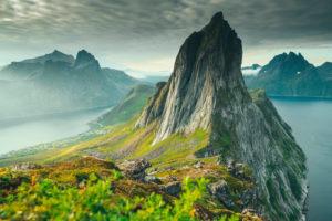 Segla Mountain, Oyfjord, Mefjord, Senja, Norway