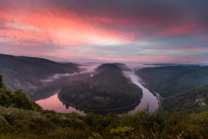 Sunrise at the Saar Bend, Germany