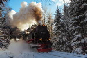 Harz narrow-gauge railway Brocken, Harz, Germany