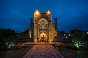 Registan Platz in Samarkand, Usbekistan - Wahrzeichen des Landes