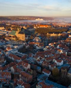 Erfurt winter sunrise
