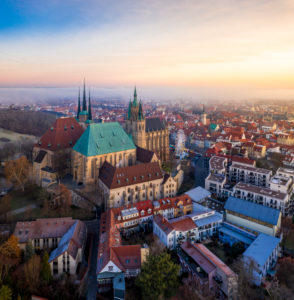 Erfurt winter sunrise