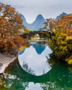 Arch bridge at Yangshou (Guilin) in China