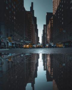 New York Straßenschlucht, USA