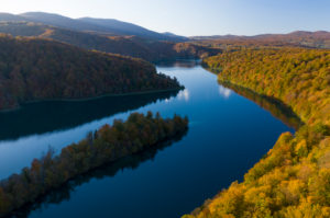 Herbst im Plitvice Nationalpark in Kroatien