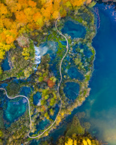 Autumn in Plitvice National Park in Croatia