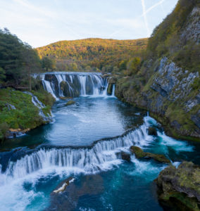 Strbacki buk Wasserfall in Bosnien-Herzegowina