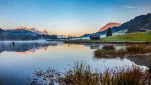 Early morning at Geroldsee (lake)