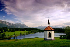 Small chapel in the alpine upland