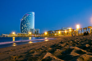Town beach of Barcelona