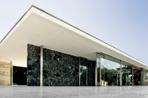 Barcelona pavilion of Mies van der Rohe