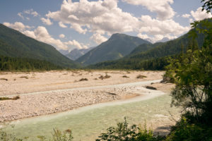 Isar valley with Karwendel mountains