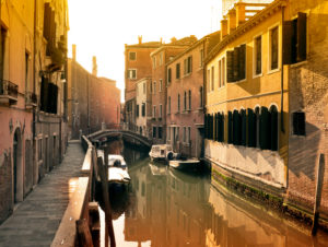 Canal in Venice off the beaten tracks