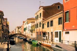 Canal in Venedig abseits der Touristen-Pfade