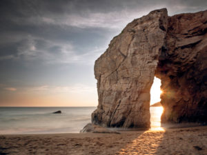 Rock gate near Port Blanc, Quiberon Peninsula, Brittany
