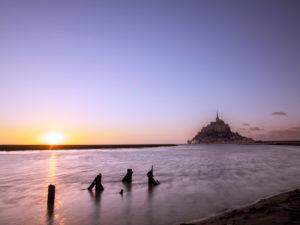 Le Mont-Saint-Michel at sunset
