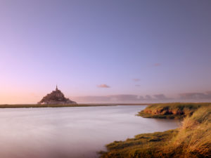 Le Mont-Saint-Michel bei Sonnenuntergang