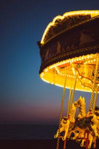 Karussell am Brighton Beach, Brighton, England