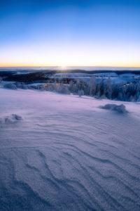 Sonnenaufgang, Winterlandschaft, Fichtelberg